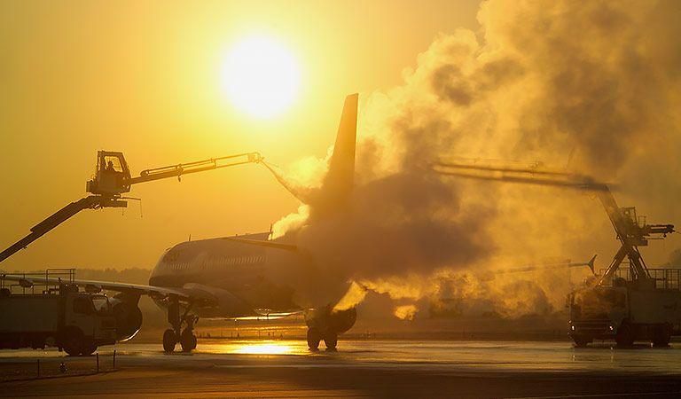 Flugzeugenteisung