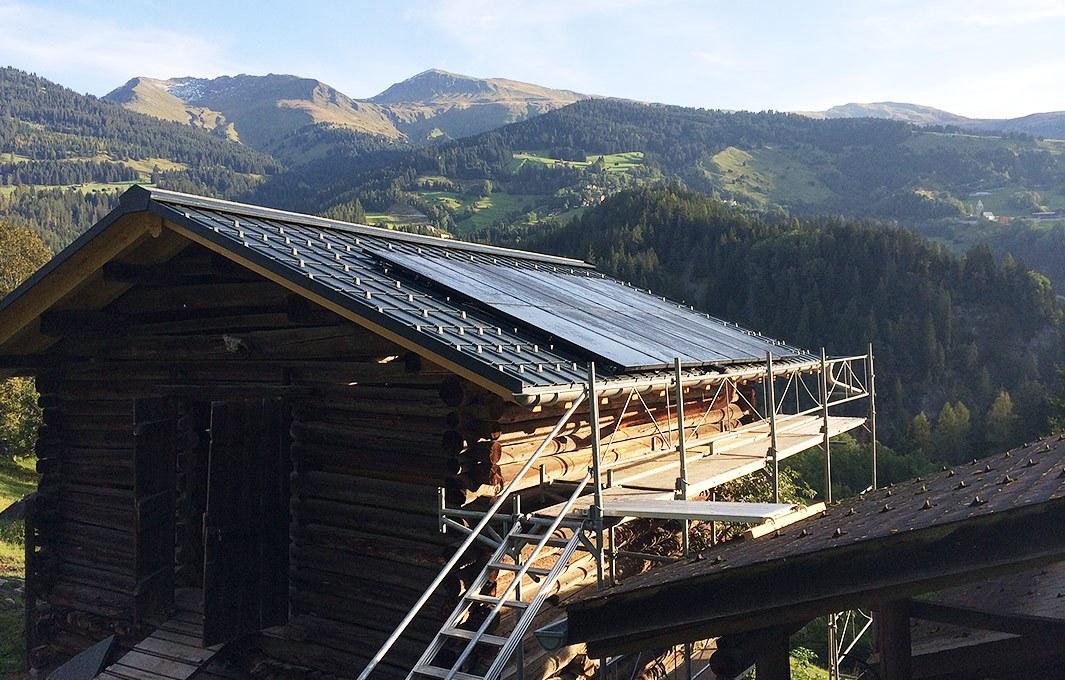 Solaranlage in den Bergen